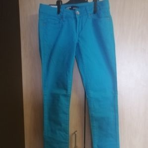 NWT size 3 Turquoise skinny jeans